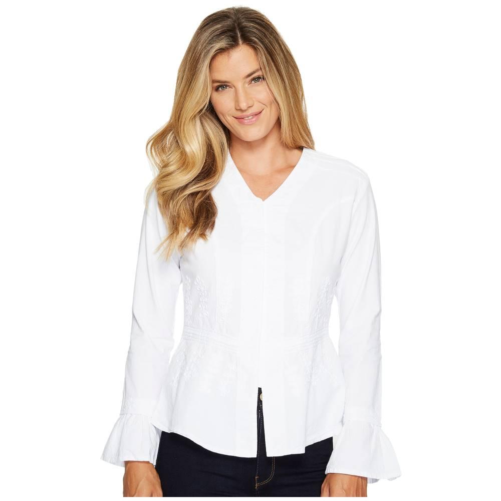 スカーリー レディース トップス【Cantina Becca Peruvian Cotton Top】White