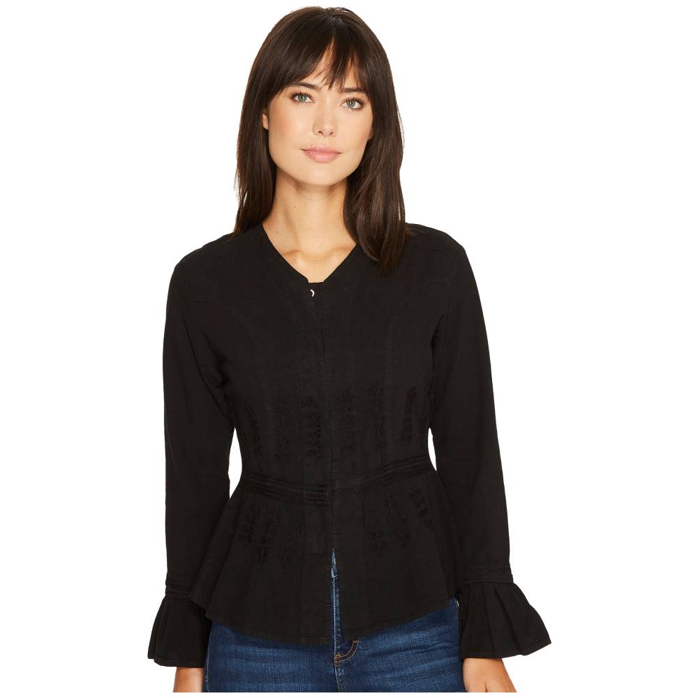 スカーリー レディース トップス【Cantina Becca Peruvian Cotton Top】Black