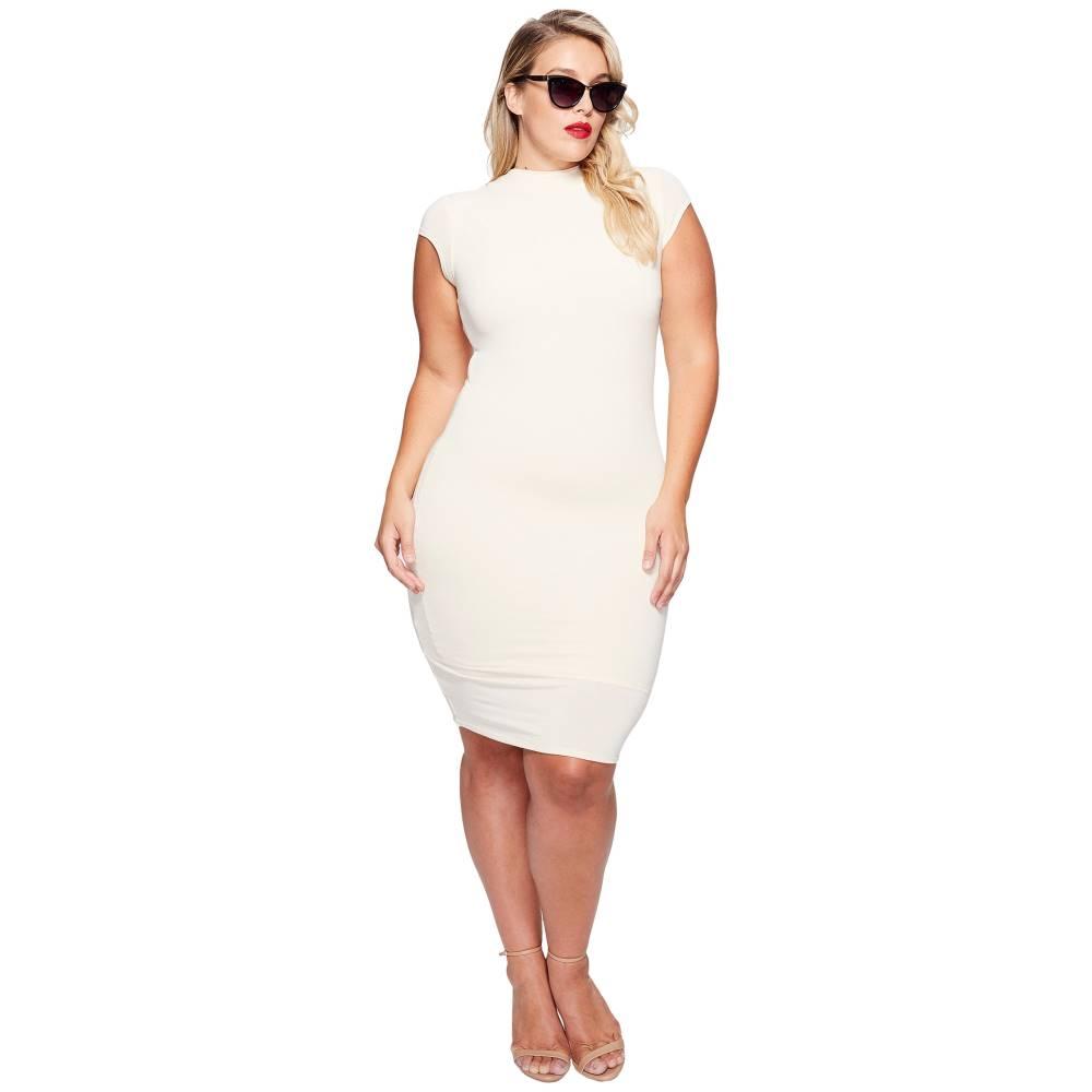 充実 ユニークヴィンテージ レディース ワンピース・ドレス ワンピース【Plus Size Holly Wiggle Dress】Ivory