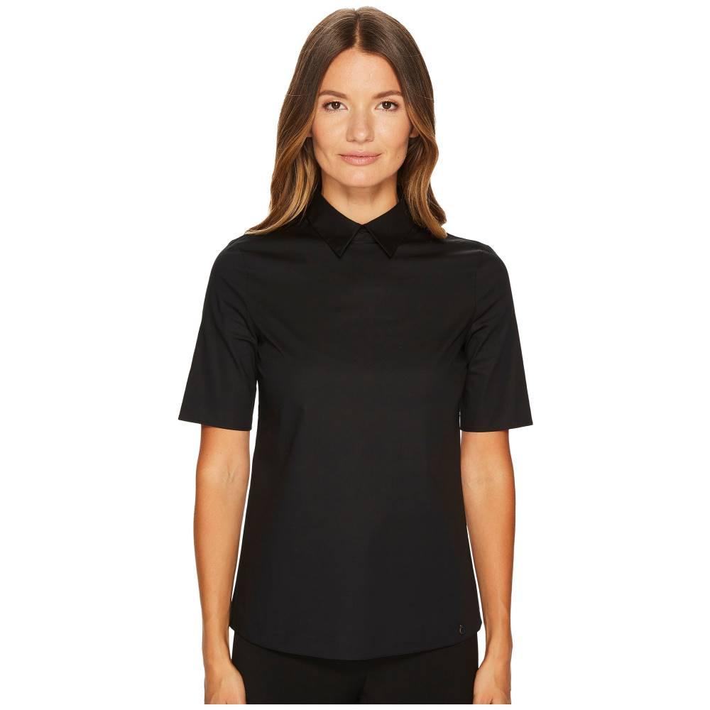 ジル サンダー レディース トップス ブラウス・シャツ【Cotton Poplin Short Sleeve Collared Shirt】Black