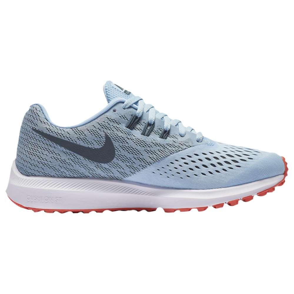 ナイキ レディース ランニング・ウォーキング シューズ・靴【Nike Zoom Winflo 4】Ice Blue/Blue Fox/Bright Crimson/White