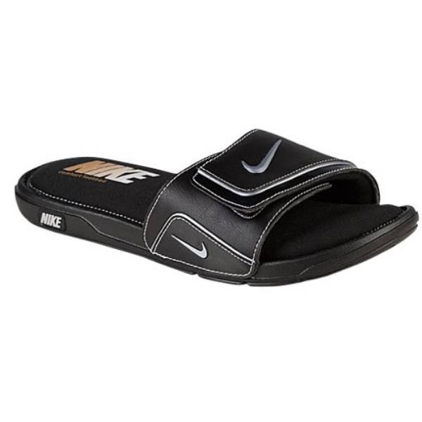 ナイキ メンズ シューズ・靴 サンダル【Nike Comfort Slide 2】Black/Metallic Silver/White