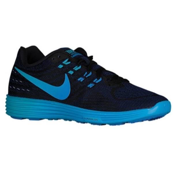 ナイキ レディース ランニング・ウォーキング シューズ・靴【Nike LunarTempo 2】Black/Blue Glow/Deep Royal Blue/Blue Glow