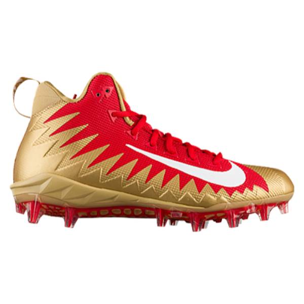 ナイキ メンズ サッカー シューズ・靴【Nike Alpha Menace Pro Mid】University Red/White/Metallic Gold