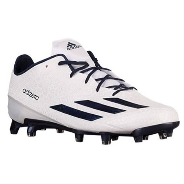 アディダス メンズ アメリカンフットボール シューズ・靴【adidas adiZero 5-Star 5.0】White/College Navy/College Navy