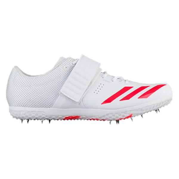 アディダス メンズ 陸上 シューズ・靴【adidas adiZero HJ】Footwear White/Solar Red/Silver Metallic