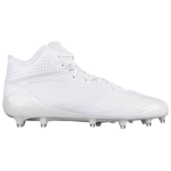 アディダス メンズ アメリカンフットボール シューズ・靴【adidas adiZero 5-Star 6.0 Mid】White/White/White