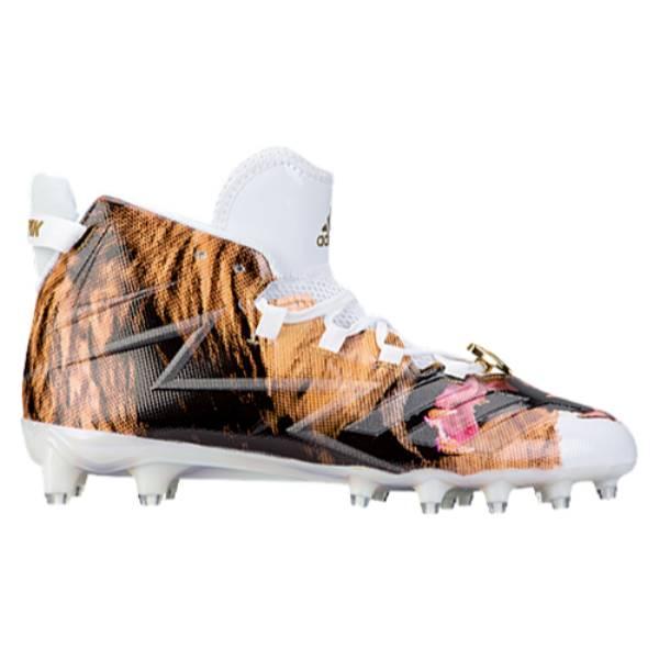 アディダス メンズ アメリカンフットボール シューズ・靴【adidas Freak x KEVLAR Uncaged】White/White/Gold Metallic