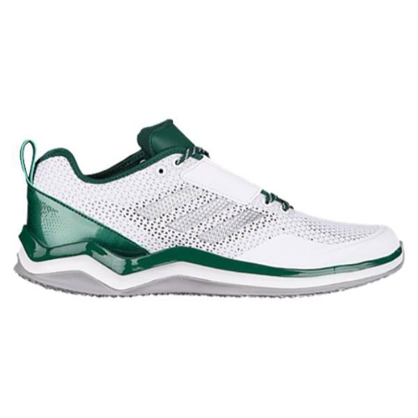 アディダス メンズ 野球 シューズ・靴【adidas Speed Trainer 3.0】White/Silver Metallic/Dark Green