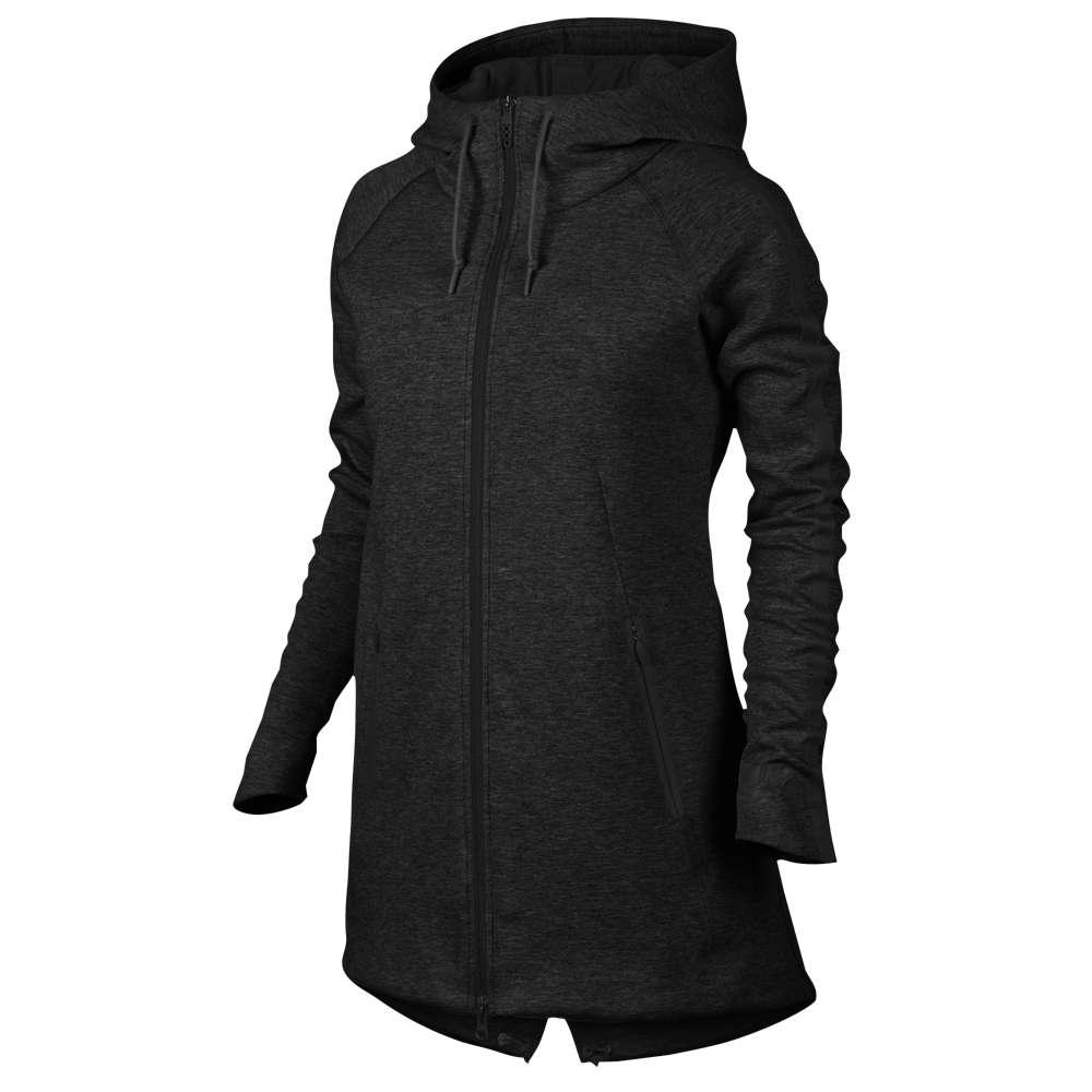 ナイキ レディース トップス パーカー【Nike Aeroloft Tech Fleece Parka】Black Heather/Black/Black/Black