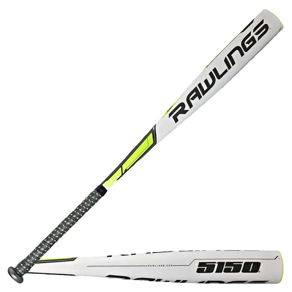 ローリングス メンズ 野球 バット【Rawlings 5150 BBCOR Baseball Bat】White/Black/High Visibility Yellow