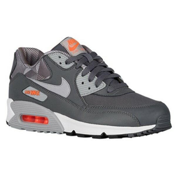 ナイキ メンズ シューズ・靴 スニーカー【Nike Air Max 90】Dark Grey/Wolf Grey/White/Total Orange