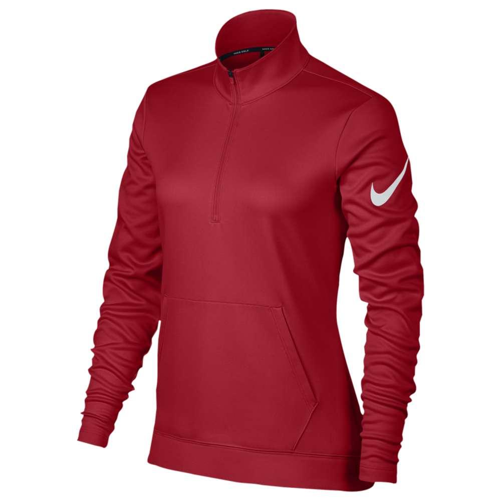 ナイキ レディース トップス【Nike Golf Thermal 1/2 Zip Cover Up】University Red/White