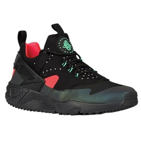 ナイキ メンズ シューズ・靴 スニーカー【Nike Air Huarache Utility】Black/Black/Bright Crimson