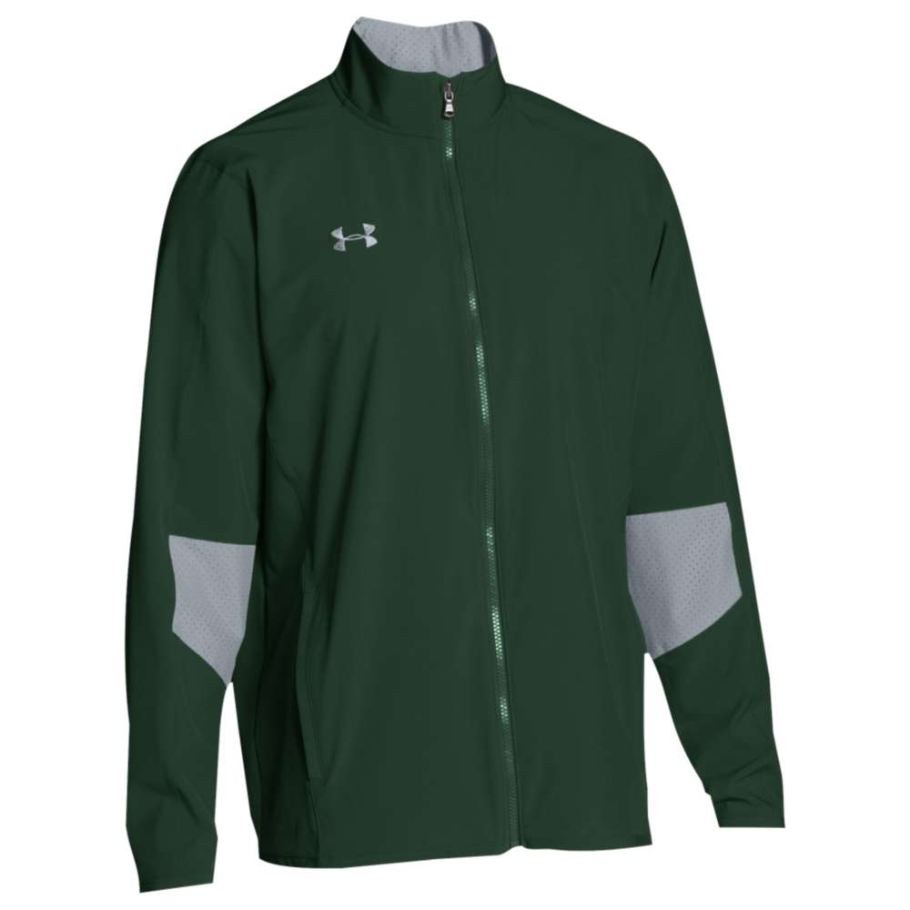 アンダーアーマー メンズ アウター ジャージ【Under Armour Team Squad Woven Warm Up Jacket】Forest Green/Steel