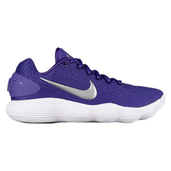 ナイキ レディース バスケットボール シューズ・靴【Nike React Hyperdunk 2017 Low】Court Purple/Metallic Silver/White