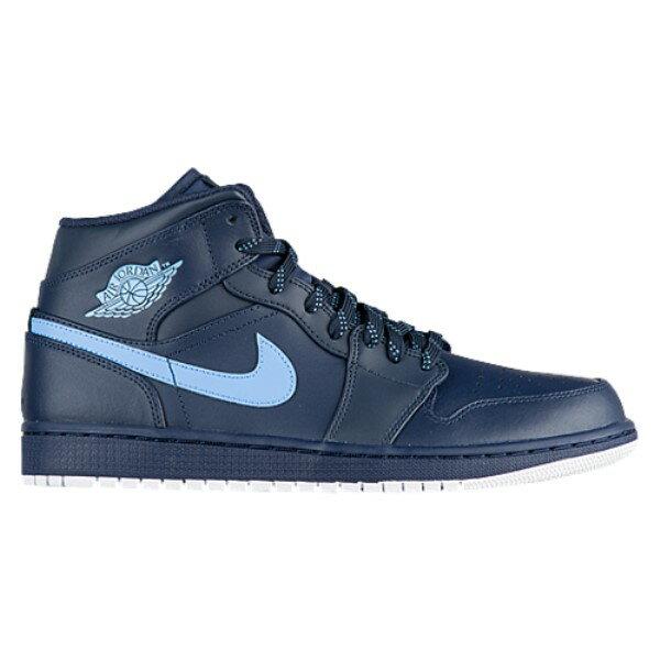 ナイキ ジョーダン メンズ シューズ・靴 スニーカー【Jordan AJ1 Mid】Obsidian/University Blue/White
