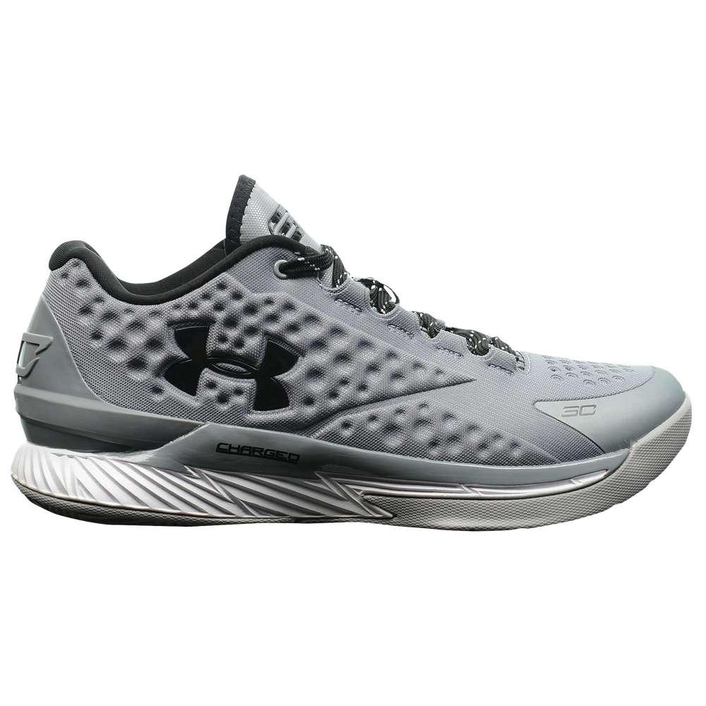 アンダーアーマー メンズ バスケットボール シューズ・靴【Under Armour Charged Foam Curry 1 Low】Graphite/Metallic Silver/Black
