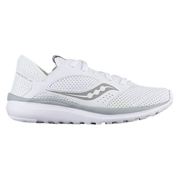サッカニー レディース ランニング・ウォーキング シューズ・靴【Saucony Kineta Relay】White/Grey