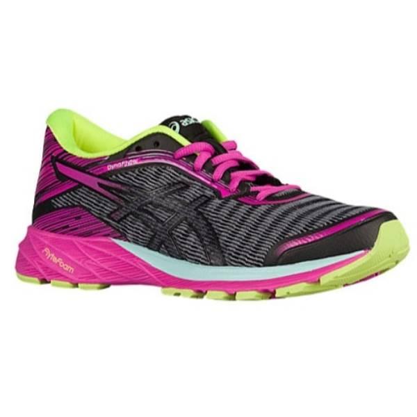 アシックス レディース ランニング・ウォーキング シューズ・靴【ASICS Dynaflyte】Black/Pink Glow/Safety Yellow