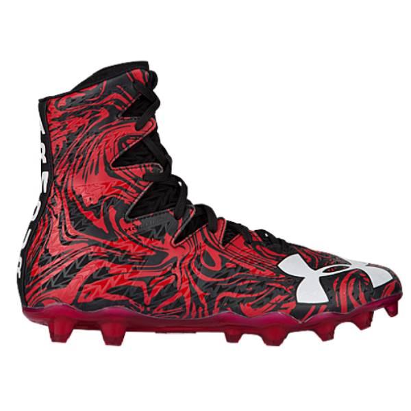 アンダーアーマー メンズ アメリカンフットボール シューズ・靴【Under Armour Highlight LUX MC】Black/Red