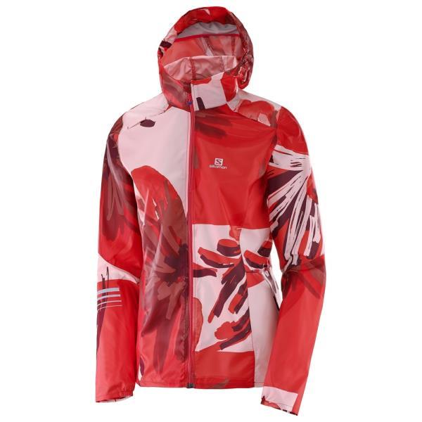 L39283300 LIGHTNING WIND GRAPH HOODIE W POPPY RED/PINK DOGWOOD/FLAME SCARLET (SAM10392596) 【 サロモン 】【QBH33】