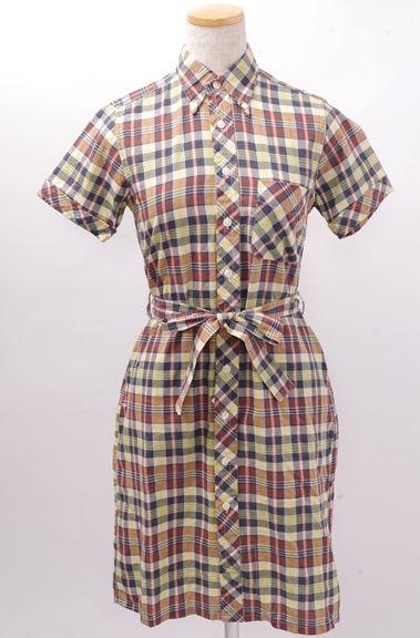 信じられないほどファッション FWK Engineered Garments エンジニアードガーメンツ BD Shirt Dressマドラスチェックワンピース【LOPA43304】【マルチ】【0】【中古】【DM170809】