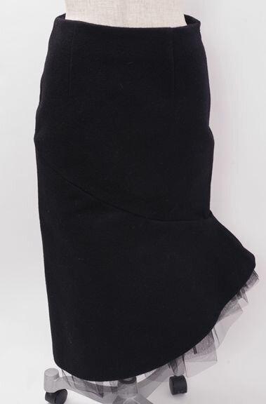 【11月4日に値下げ】LE CIEL BLEUルシェルブルー 2016AWコレクションライン ヘビーメルトンスカート未使用品【LSKA42309】【ブラック】【38】【未使用】【DM170628】