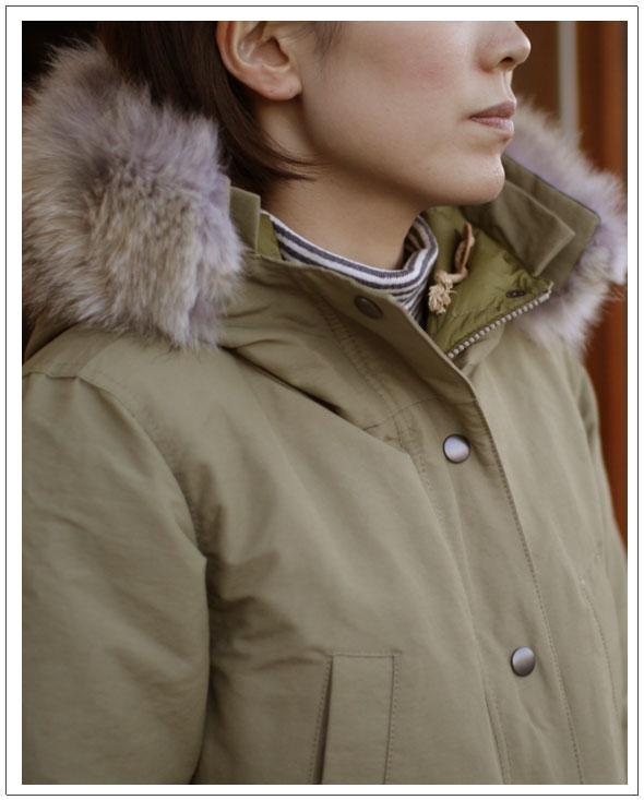 miusa(ミウザ)HOODED COAT WITH DOWN LINING&DETACHABLE FUR TRIMMING[Lady's]ダウンコート2014モデル Made in Canada