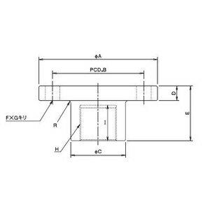 大阪ジャッキ製作所 ウォームジャッキ用フランジ形金具 F-MF25