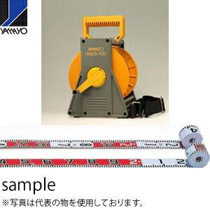 ヤマヨ測定器 リボンロッド両サイド60E2 ケース入 R6B30M 30m 遠距離用現場記録写真用巻尺