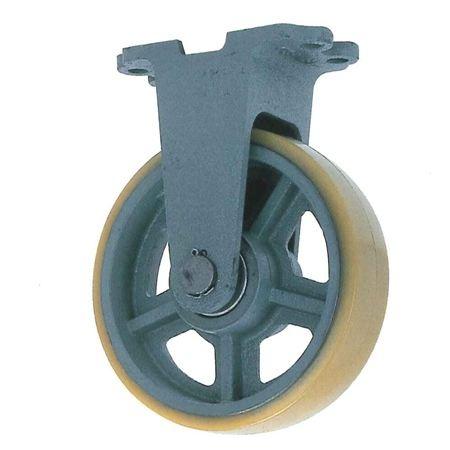ヨドノ UHBK300-90 重荷重用鋳物製固定金具付ウレタン車輪