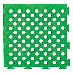 緑十字 ソフトチェッカーマット ソフトチェッカーS(緑) 32枚(2)1組