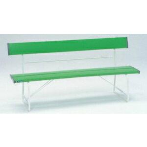 安全標識 8955-G 背付ベンチ(緑) W1505×D516×H740mm 硬質塩ビ+スチールパイプ(脚部) [送料別途お見積り]