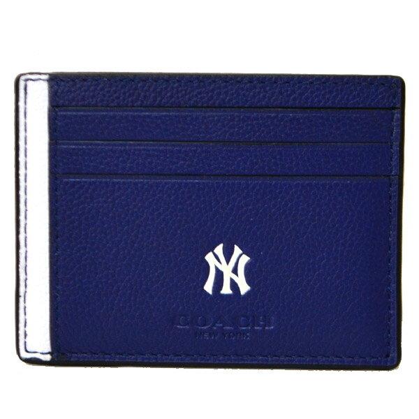 コー� カードケース COACH  ニューヨーク・ヤンキース コラボ レザー スリム カードケース �イビーマル� 10847�ブランド 新� �料無料 誕生日 プレゼント 正� 激安 レディース セール SALE ギフト 】
