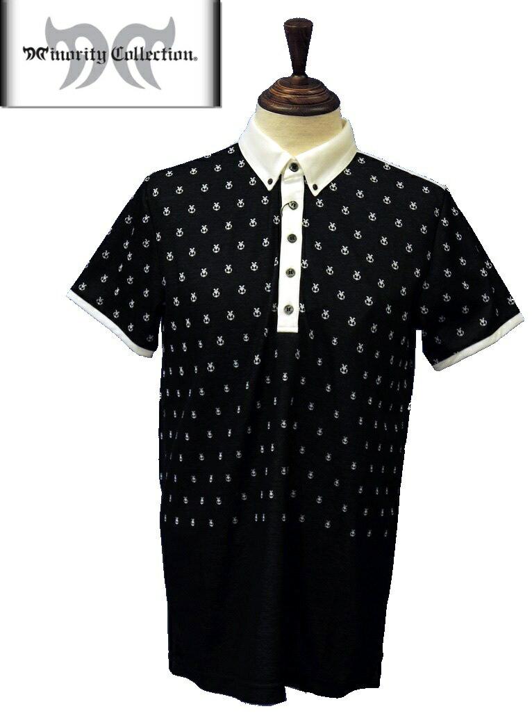 【2014年春夏】Minority Collection マイノリティコレクション メンズ 31402-12 半袖ポロシャツ ブラック M