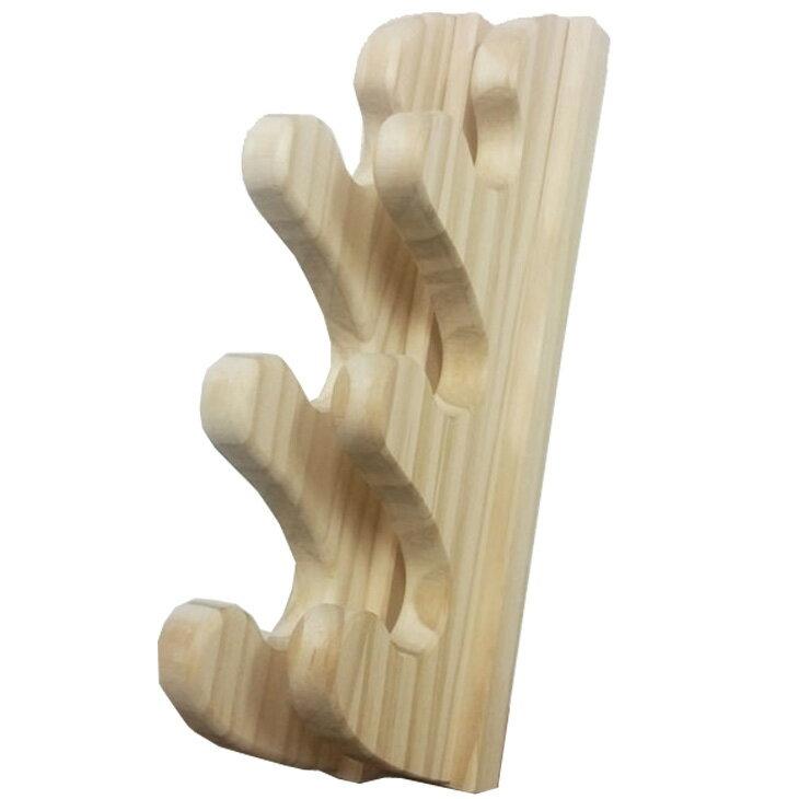 壁掛け ロッドラック Easy Rack for Rod ウェーブフォームスタイル 3本掛け 釣り竿 ゴルフ Aqua Rideo アクアリデオ イージーラック 壁美人 【お取り寄せ商品】