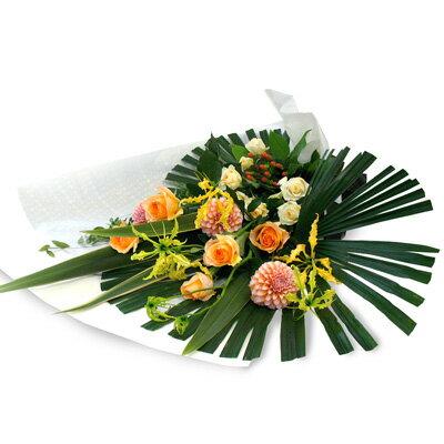 花 【フロレアル】ラインブーケLLサイズ(6色から選べます!)【あす楽対応】【楽ギフ_包装】【楽ギフ_メッセ入力】花束 ブーケ 誕生日 お祝い 御祝 歓迎 送別 バラ  プレゼント フラワー ギフト