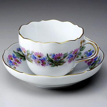 マイセンコーヒーカップ&ソーサー【マイセン】meissen 雛菊 コーヒーカップ&ソーサー 【結婚祝】【出産祝】【退職祝】【引越祝】【還暦祝】【記念品】