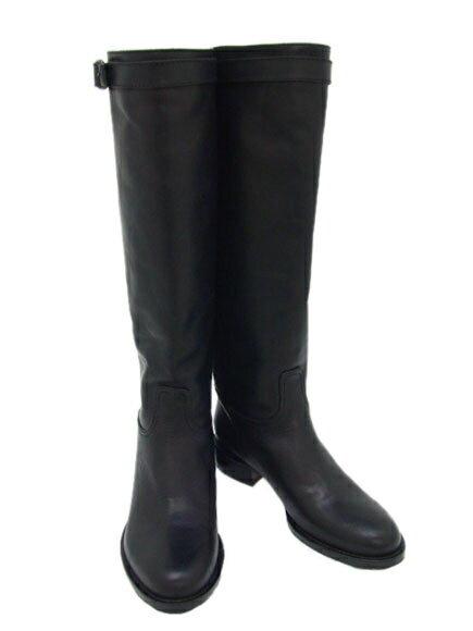 \9/16(土)10時~エントリーでポイント10倍/訳あり1 DUOMO 靴 レディース ロングブーツ ブラック (1530 BK) 36サイズ