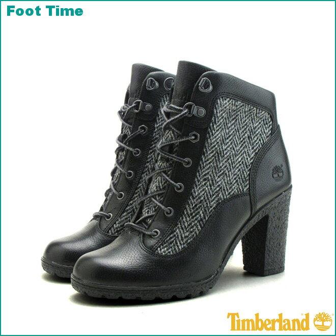 ティンバーランド グランシー ハイカー ブーツ TIMBERLAND GLANCY F/L HIKER BOOTS A11TRブラック/ツイード BLACK/TWEED レディース ブーツ  『送料無料』