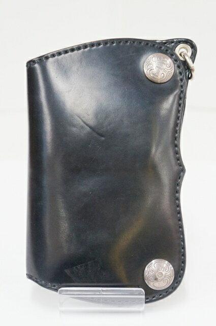 素晴らしいデザイン SILVER SMITH FIN (シルバースミスフィン) F.T.W ウォレット 二つ折り財布  カラー:BLACK【中古】【財布】【四日市 併売品】【138-170921-01TH】