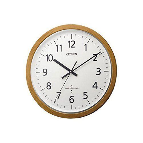 CITIZEN シチズン リズム時計 スリーウェイブM840 アナログ 高感度 電波時計 掛け時計 4MY840-006