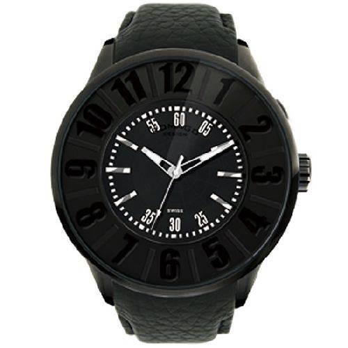 【ポイント10倍】ROMAGO DESIGN (ロマゴデザイン) メンズ腕時計 ヌメレーションシリーズ メンズウォッチ ブラック RM007-0053ST-BK