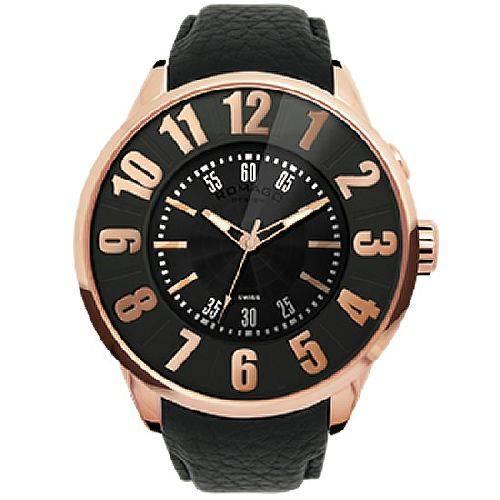 【ポイント10倍】ROMAGO DESIGN (ロマゴデザイン) メンズ腕時計 ヌメレーションシリーズ メンズウォッチ ピンクゴールド RM007-0053ST-RG