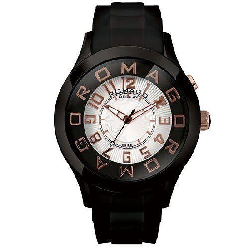 【ポイント10倍】ROMAGO DESIGN (ロマゴデザイン) メンズ腕時計 アトラクションシリーズ メンズウォッチ ブラックxピンクゴールド RM015-0162PL-BKRG