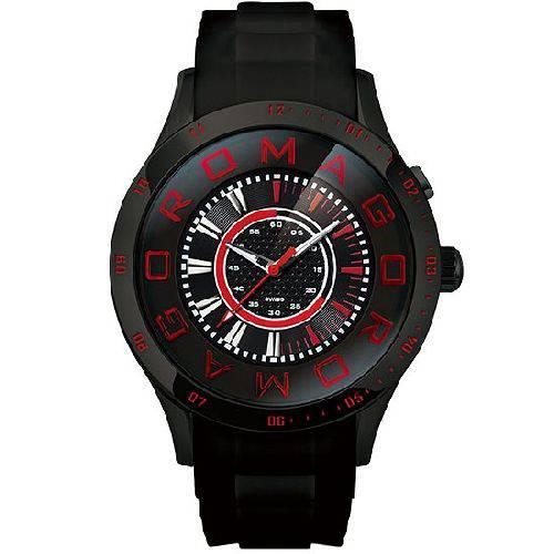 【ポイント10倍】ROMAGO DESIGN (ロマゴデザイン) メンズ腕時計 アトラクションシリーズ メンズウォッチ ブラックxレッド RM015-0235PL-BK