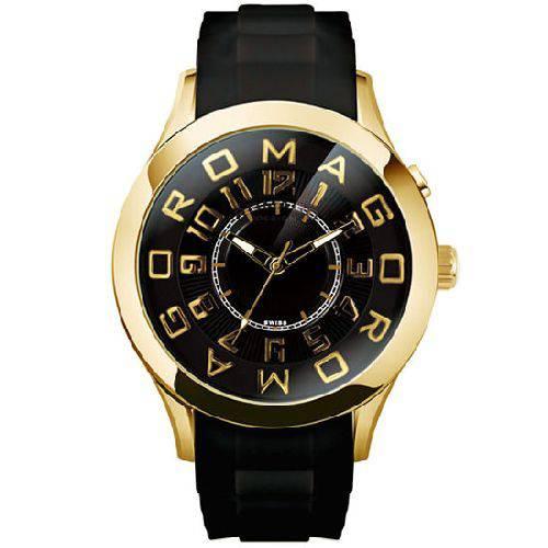 【ポイント10倍】ROMAGO DESIGN (ロマゴデザイン) メンズ腕時計 アトラクションシリーズ メンズウォッチ ブラックxゴールド RM015-0162PL-GDBK