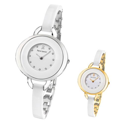 【ピエールラニエ公式】レディース腕時計 フランス製 ギフト ラッピング プレゼント  セラミック【P082H-P083H】Pierre Lannierピエールラニエ LADY CERAMICウォッチ