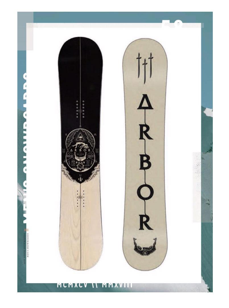 17-18 ARBOR アーバー <RELAPSE LTD>SNOWBOARD スノーボード 板 2017-2018※10月発送予約商品